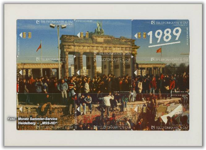 Phone Card Puzzle Brandenburg Gate 1989, front side