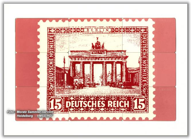 Phone Card Puzzle Brandenburg Gate 1989, opposite side