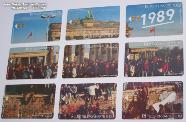 Brandenburg Gate telephone cards stretched out (front side)
