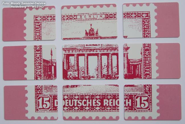 Brandenburg Gate telephone cards stretched out (opposite side)