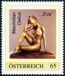 Briefmarke Österreich 2009 - Maximilian Delius - Eva (Eve)